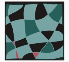 Aquamarine and black abstract blocks Kids Clothes