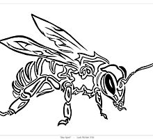 """Bee Spirit"" ver.1 - Surreal abstract tribal bee totem animal by VisionQuestArts"