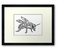 """""""Bee Spirit"""" ver.1 - Surreal abstract tribal bee totem animal Framed Print"""