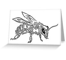 """Bee Spirit"" ver.1 - Surreal abstract tribal bee totem animal Greeting Card"