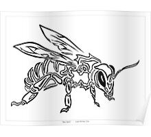 """Bee Spirit"" ver.1 - Surreal abstract tribal bee totem animal Poster"