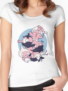 [FFXIV] Mandragora and Friends (Blue) Women's Fitted Scoop T-Shirt