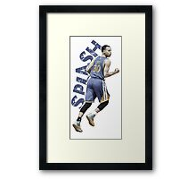 "Stephen Curry ""SPLASH"" Framed Print"