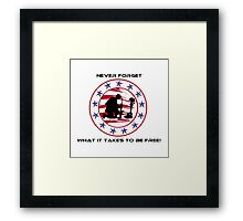 Fallen Soldier  Never Forget Framed Print