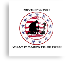 Fallen Soldier  Never Forget Metal Print