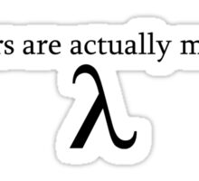 Engineers are Actually Mathletes Sticker