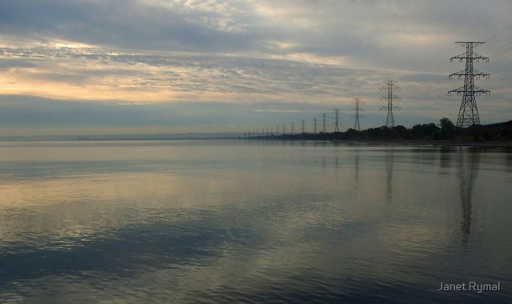 Powerlines Along the Beach by Janet Rymal