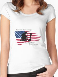 Cost of Freedom Women's Fitted Scoop T-Shirt