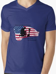 Cost of Freedom Mens V-Neck T-Shirt