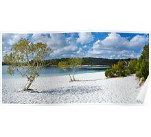 Lake McKenzie Panorama Poster