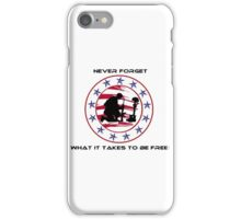 Fallen Soldier  Never Forget iPhone Case/Skin