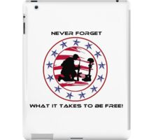 Fallen Soldier  Never Forget iPad Case/Skin