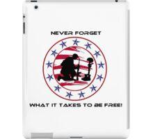 Fallen Soldier  Never Forget iPad Case/Skin