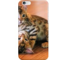 Bengal Kittens at Play iPhone Case/Skin