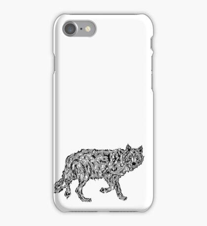 """""""Wolf Spirit"""" - surreal tribal totem animal iPhone Case/Skin"""