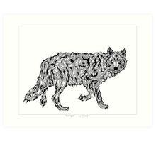 """Wolf Spirit"" - surreal tribal totem animal Art Print"