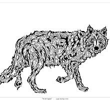 """""""Wolf Spirit"""" - surreal tribal totem animal by VisionQuestArts"""