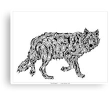 """Wolf Spirit"" - surreal tribal totem animal Canvas Print"