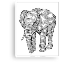"""Elephant Spirit"" version1 - surreal tribal totem animal Canvas Print"