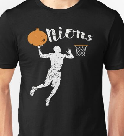 Onion Going into a Basketball Unisex T-Shirt