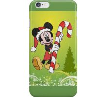 Mickey Mouse with Candycane iPhone Case/Skin