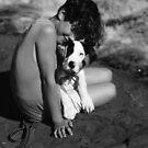 Amber n Libby B&W by velveteagle