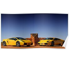 Lamborghinis at the Cannonball F40 Memorial Poster