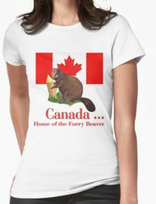 Furry Canada Womens Fitted T-Shirt