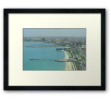 Kuwait City - Birdeye view Framed Print