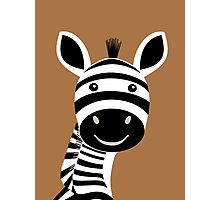 ZEBRA PORTRAIT Photographic Print