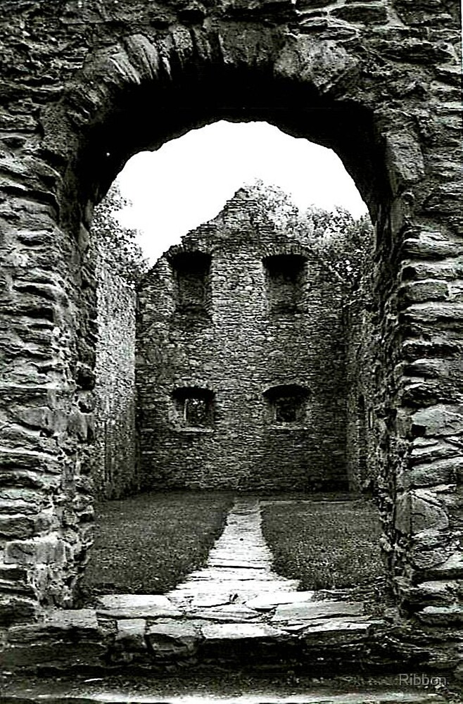 Ruined Abbey by Ribbon
