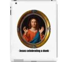 Jesus celebrating a dunk iPad Case/Skin