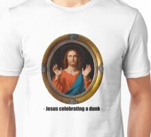Jesus celebrating a dunk Unisex T-Shirt