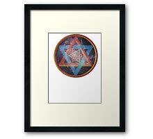 Faded Geometric Galaxy  Framed Print
