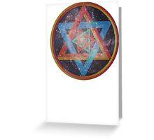 Faded Geometric Galaxy  Greeting Card