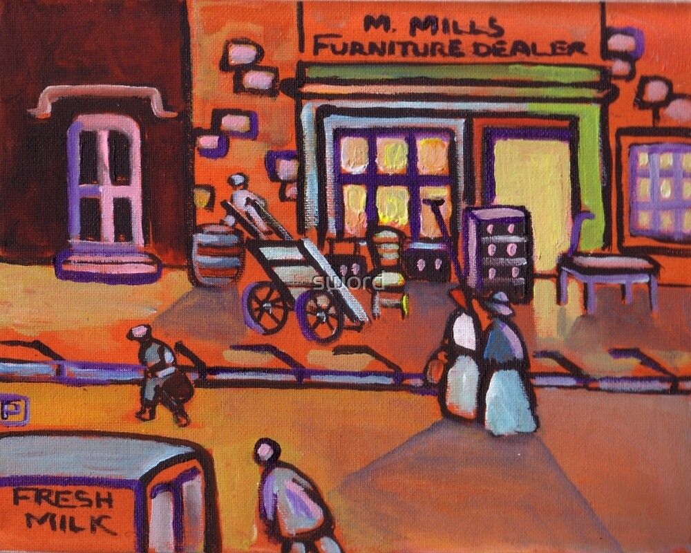 The furniture shop(from my original acrylic painting) by sword