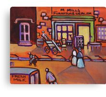 The furniture shop(from my original acrylic painting) Canvas Print