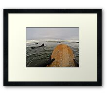 Surfer's Point of View Framed Print