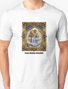 Jesus playing volleyball Unisex T-Shirt