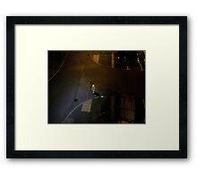 lone fireman Framed Print