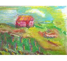 essence of a red barn Photographic Print