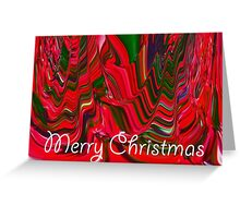 Merry Christmas Holiday Greeting Abstract Red Green Colorful Art Design Greeting Card