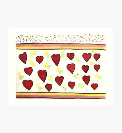 hearts of lily sophia Art Print