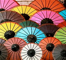 Rainbow of Umbrellas by kaid
