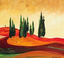 Rolling Hills by Karen Retana