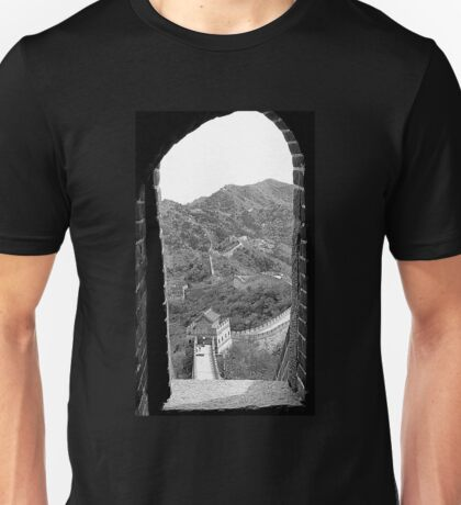 Window View of the Great Wall Unisex T-Shirt