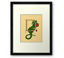 "Oscar and the Roses ""D"" (Illustrated Alphabet) Framed Print"