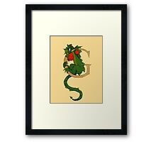 "Oscar and the Roses ""G - Tail"" (Illustrated Alphabet) Framed Print"
