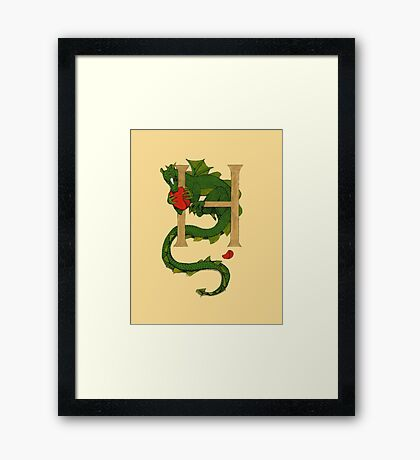"""Oscar and the Roses """"H - Tail"""" (Illustrated Alphabet) Framed Print"""
