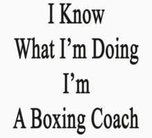 I Know What I'm Doing I'm A Boxing Coach  by supernova23